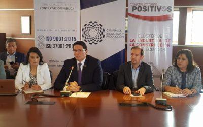 Sector privado y Sercop anuncian nueva medida para frenar la corrupción