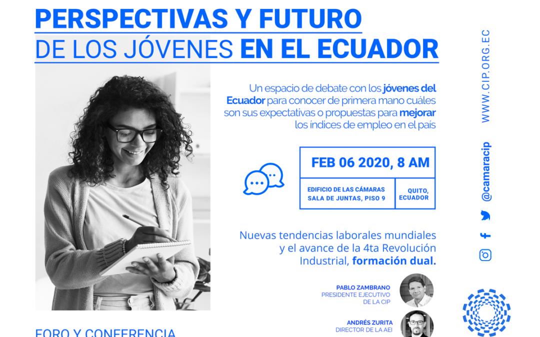 """La CIP dialogará con jóvenes ecuatorianos sobre las """"Perspectivas y el futuro de los jóvenes en el Ecuador"""""""
