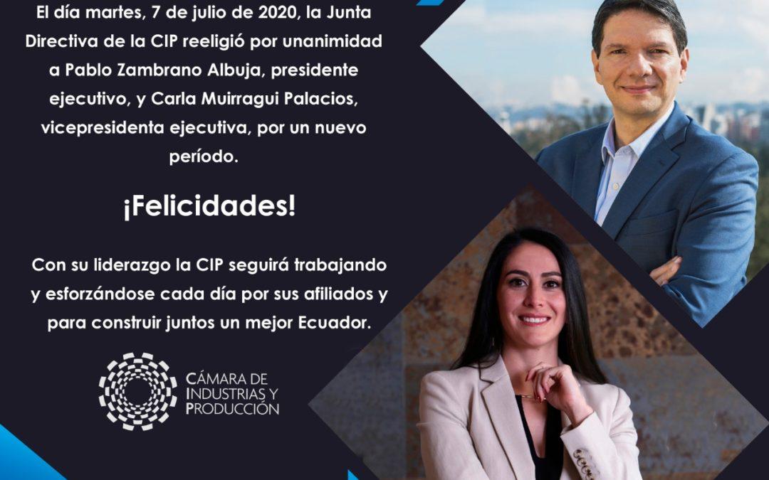 La Junta Directiva reeligió a Pablo Zambrano y Carla Muirragui por un nuevo período